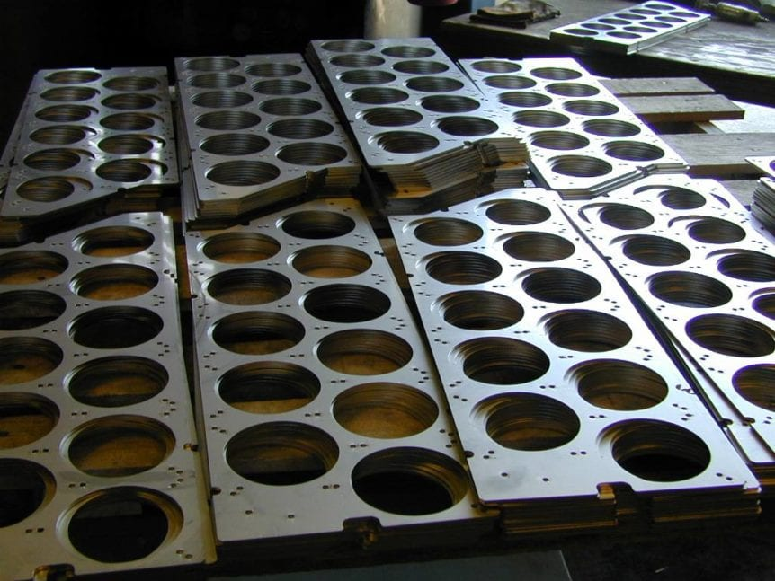 Laser Cut Deburred Stainless Plates